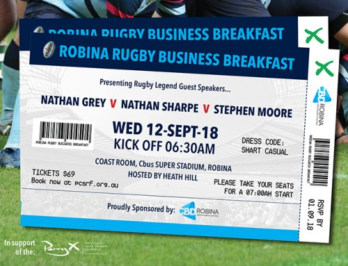 Robina Rugby Business Breakfast – for Perry Cross Spinal Research Foundation