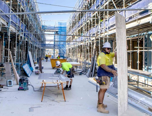 Construction of Vue Terrace Homes creating hundreds of jobs and boosting local economy