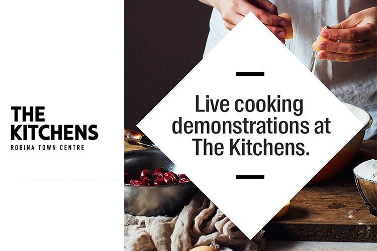 Live cooking demonstrations at The Kitchens - CBD Robina