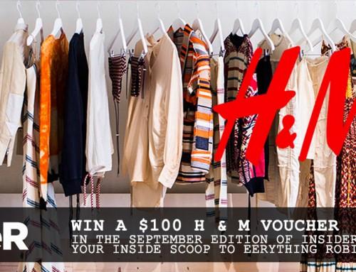 September insideR giveway – $100 H & M voucher